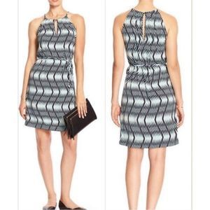 Banana Republic Halter Keyhole Drawstring Dress